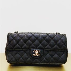 Chanel Single Flap Caviar Handbag